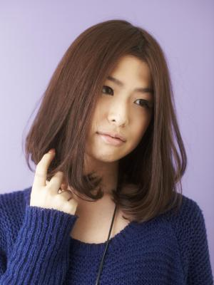 ツヤサラサラモードで大人かわいい前髪のラブクラシカルヘア