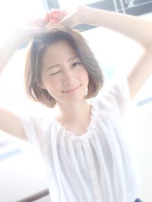 簡単スタイリング☆爽やか大人ワンカールボブ